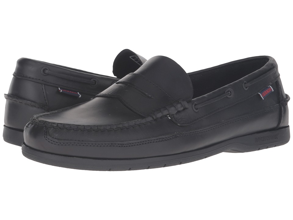 Sebago Sloop (Black Oiled Waxy) Men