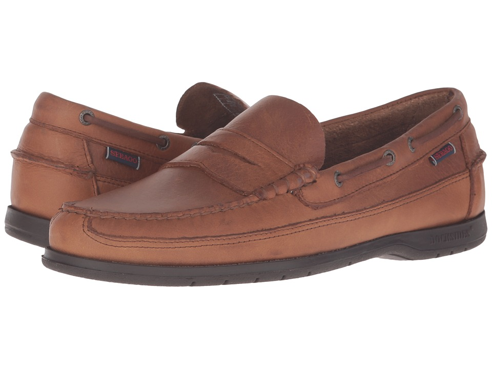Sebago Sloop (Tan Tumbled Leather) Men