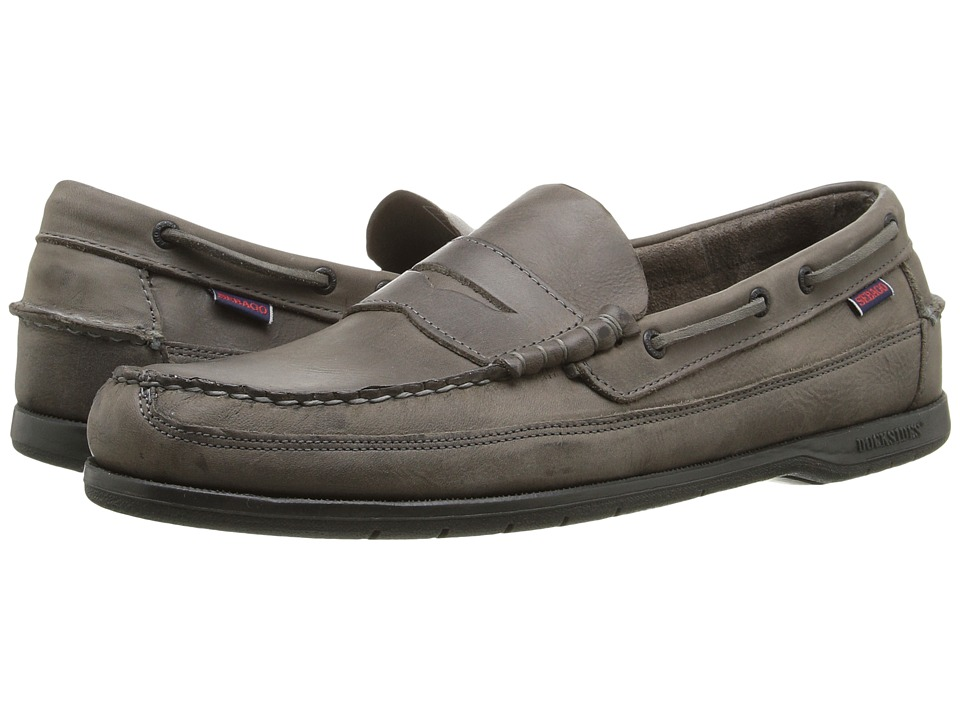 Sebago Sloop (Dark Grey Tumbled Leather) Men