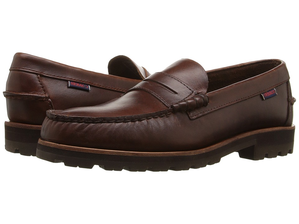 Sebago Vershire Penny (Brown Oiled Waxy Leather) Men