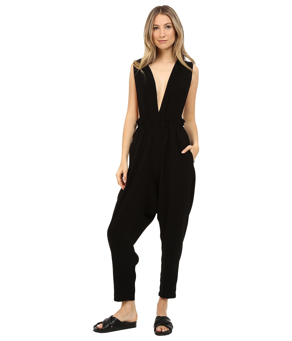 Limi Feu Satin Crepe Jumpsuit Black Womens Jumpsuit Rompers One Piece