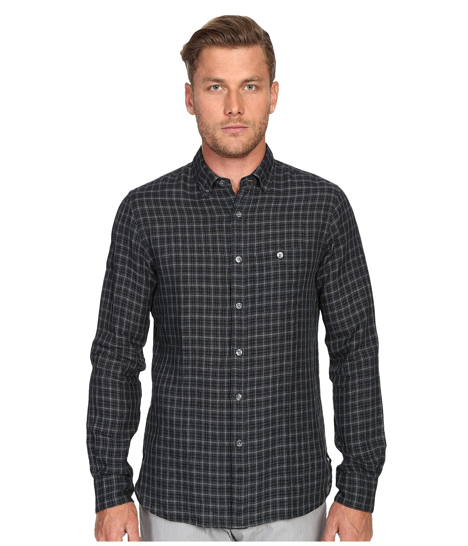 Todd Snyder Check Cotton Button Down Charcoal Mens Clothing