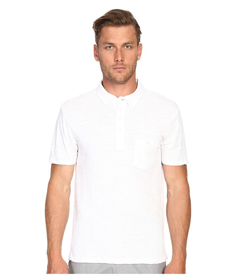 Todd Snyder Weathered Pocket Polo - White