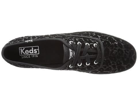 keds champion leopard flocked sequin