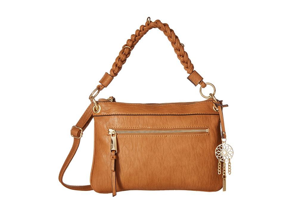 Jessica Simpson Joyce Crossbody Clutch Cognac Cross Body Handbags