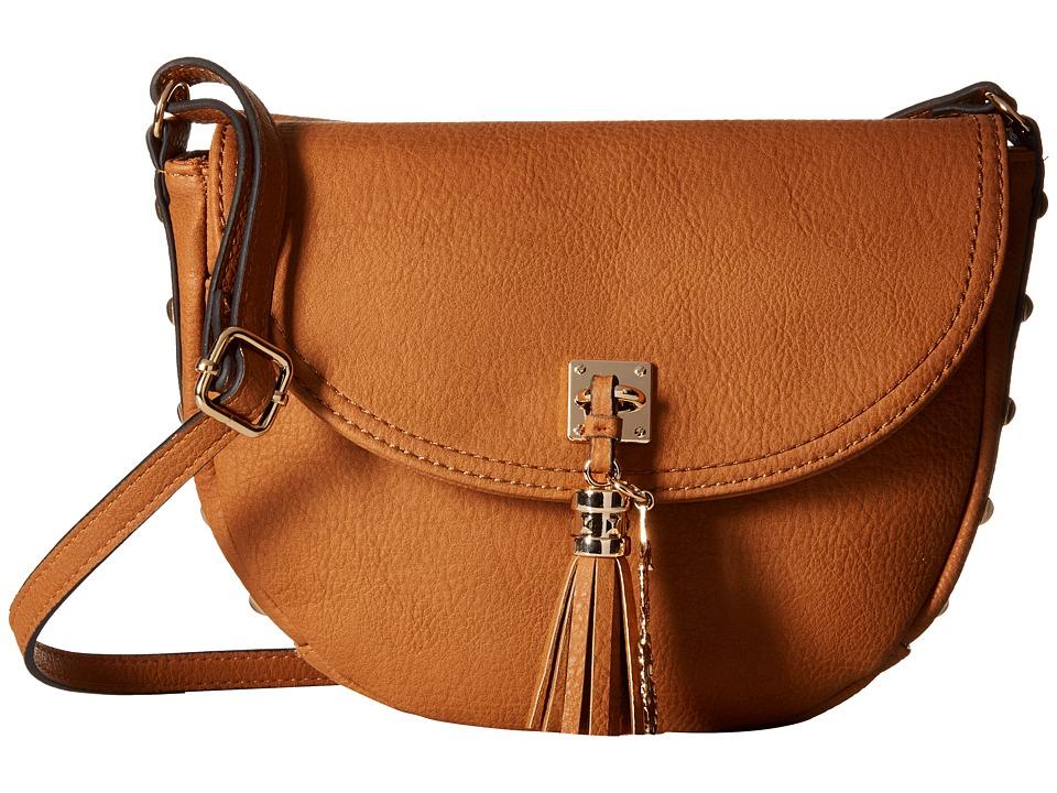 Jessica Simpson Rodica Flap Crossbody Cognac Cross Body Handbags