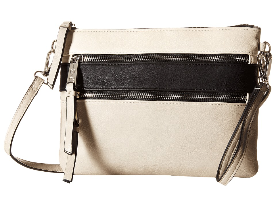Jessica Simpson - Clara Crossbody (Putty/Black/Cloud Grey) Cross Body Handbags