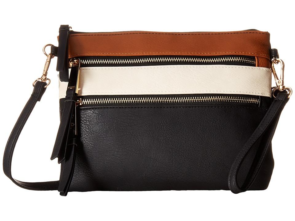 Jessica Simpson - Clara Crossbody (Cognac/Putty/Black) Cross Body Handbags
