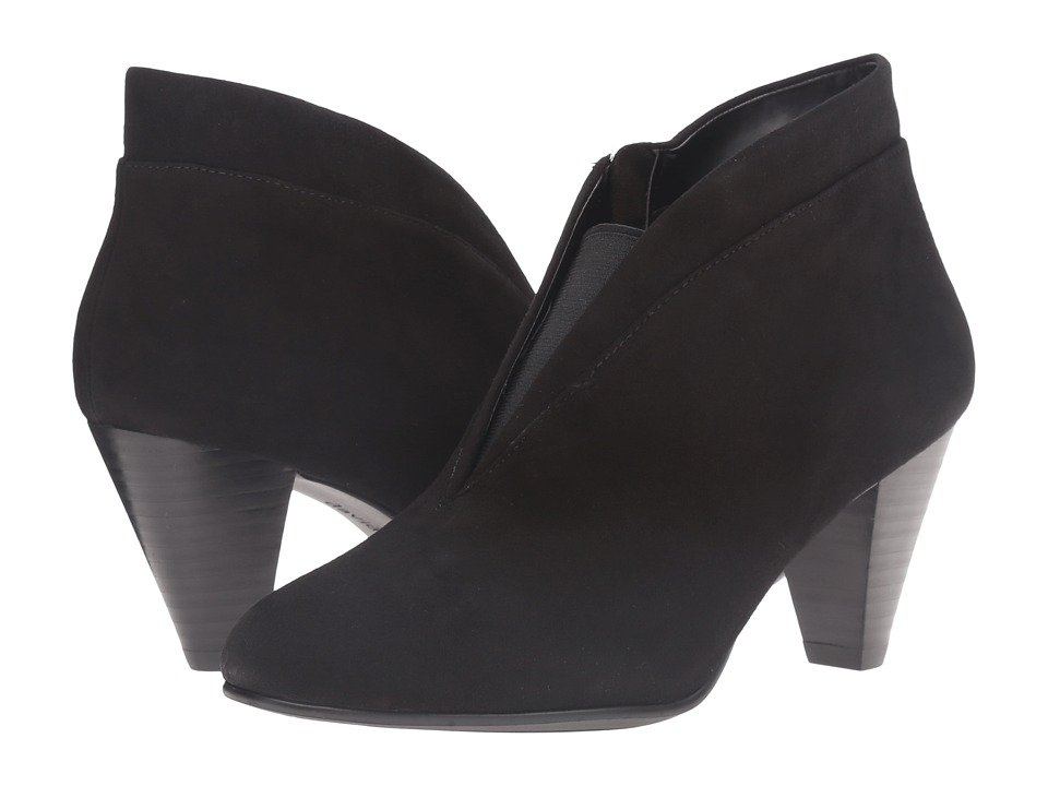 1950s Style Shoes David Tate - Natalie Black Suede Womens Shoes $143.95 AT vintagedancer.com
