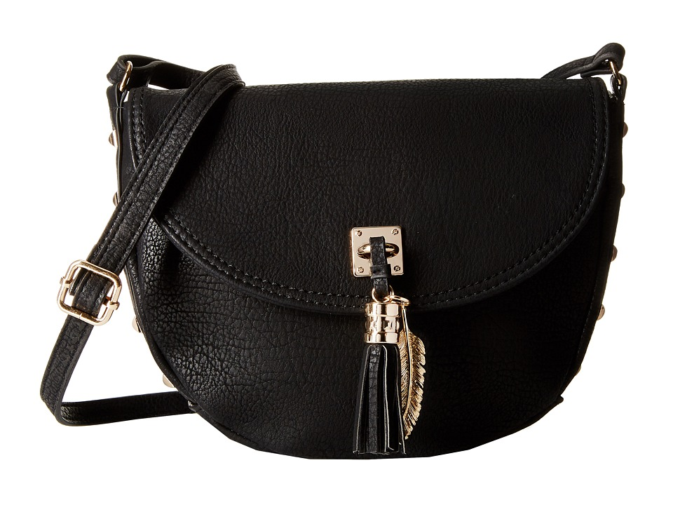 Jessica Simpson Rodica Flap Crossbody Black Cross Body Handbags