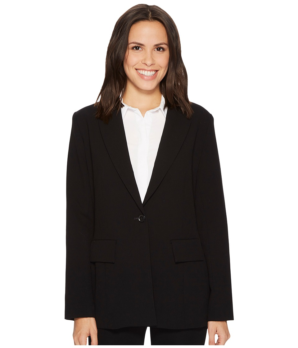 Ellen Tracy - Fitted Boyfriend Blazer (Black) Womens Jacket