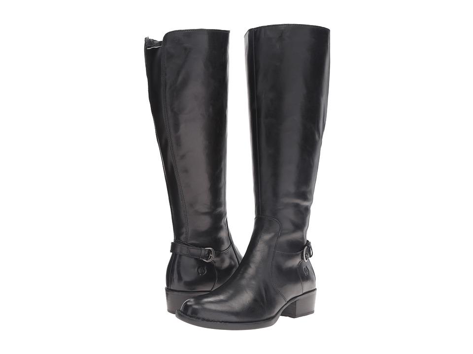 Born - Helen - Wide Calf (Black Leather) Women