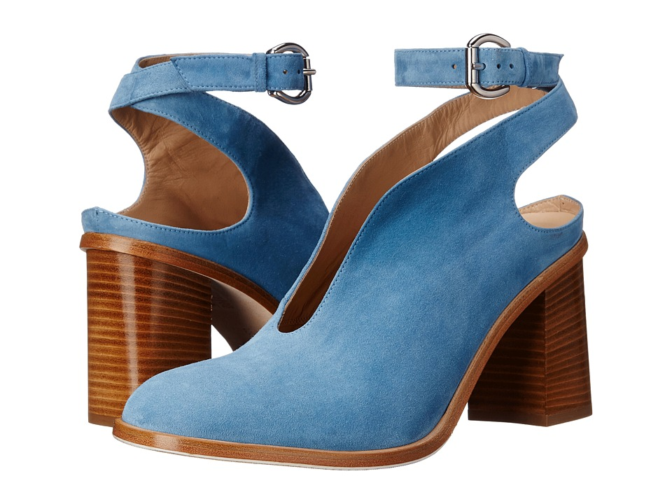 ASKA Madlyn Blue Suede High Heels