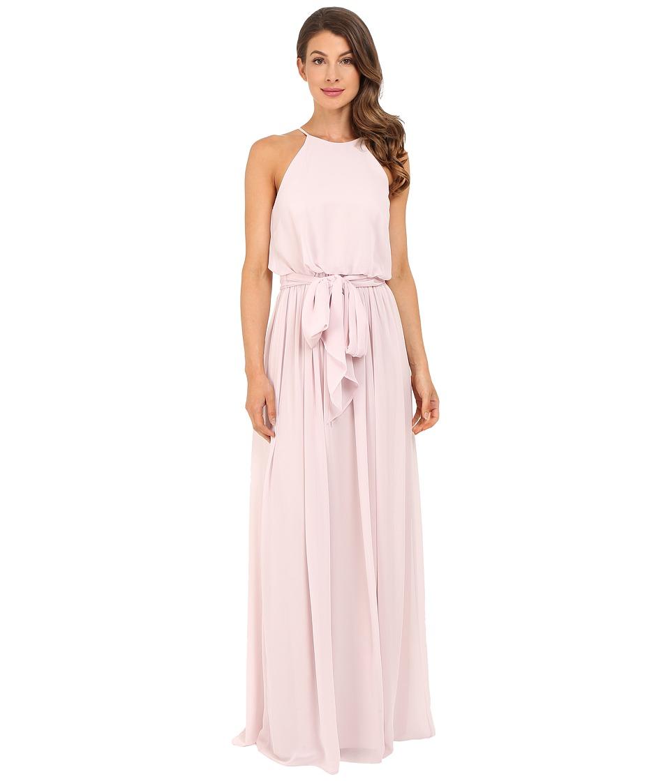 Donna Morgan Alana Drape Blouson Gown (Palest Pink) Women
