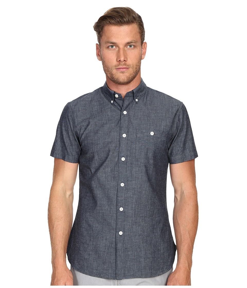 Todd Snyder Short Sleeve Chambray Button Up Indigo Mens Short Sleeve Button Up