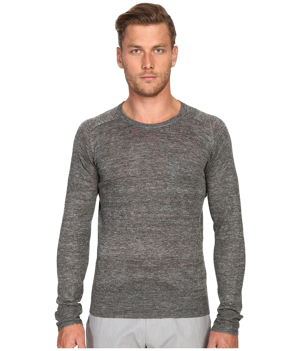 Todd Snyder Saddle Pocket Crew Sweater Charcoal Mens Sweater