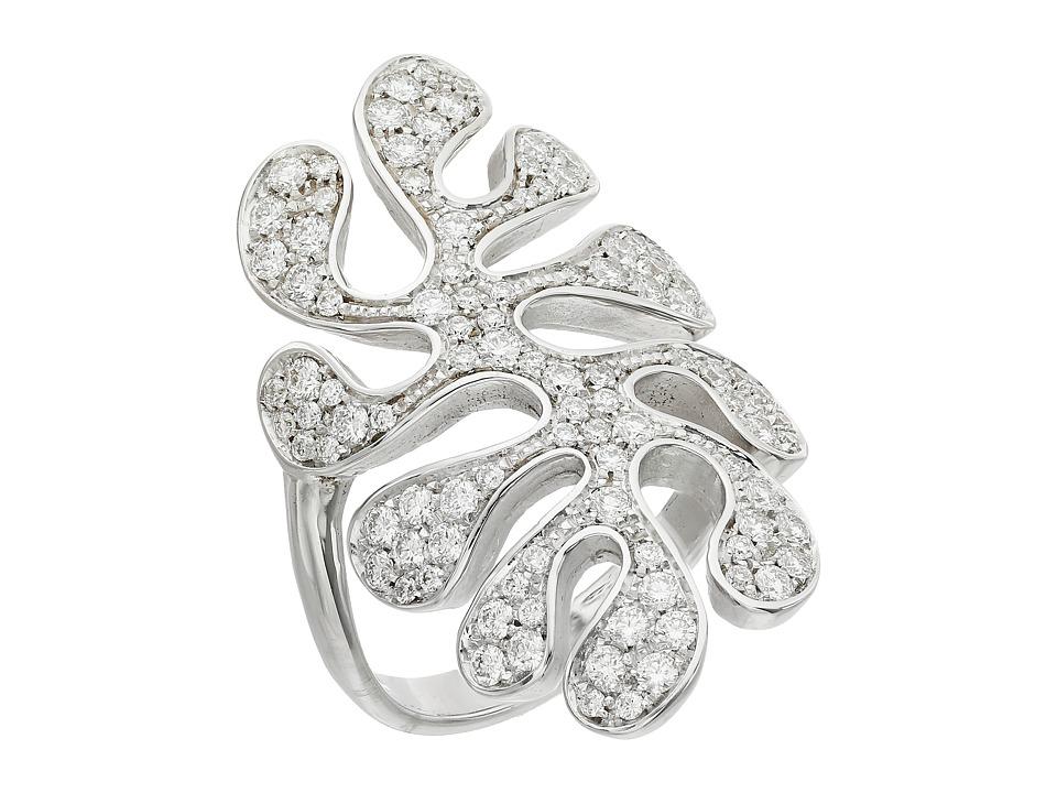 Miseno Sea Leaf Pave Diamond Ring White Gold Ring