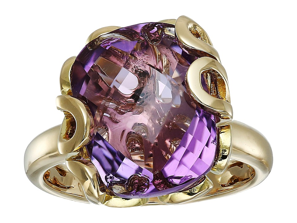 Miseno - Sea Leaf Amethyst Ring (Yellow Gold) Ring