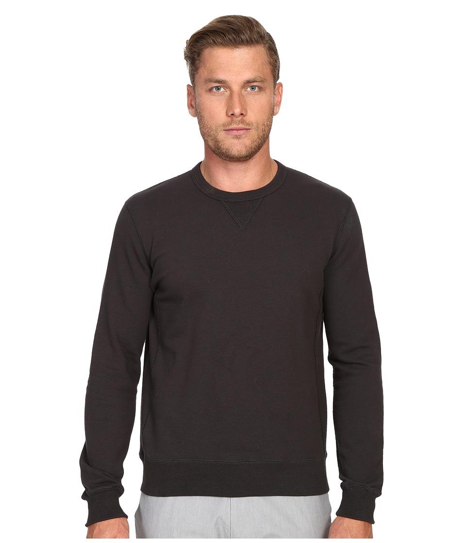Todd Snyder Patch Crew Sweatshirt Charcoal Mens Sweatshirt