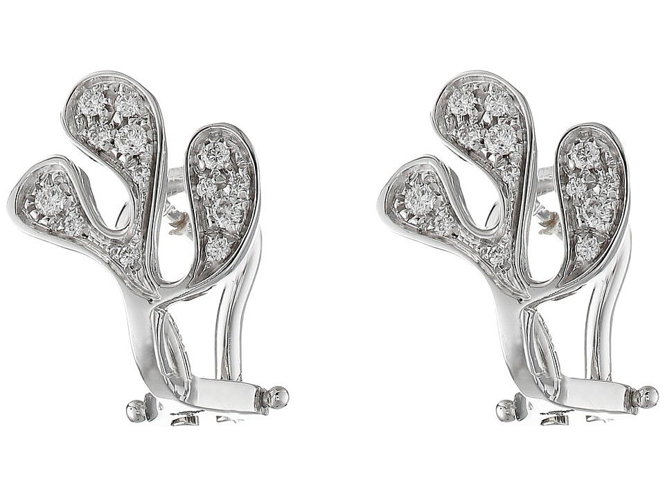 Miseno - Sea Leaf Diamond Stud Earrings (White Gold) Earring