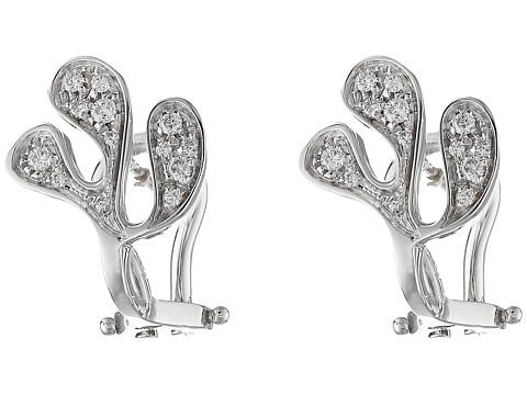 Miseno Sea Leaf Diamond Stud Earrings - White Gold