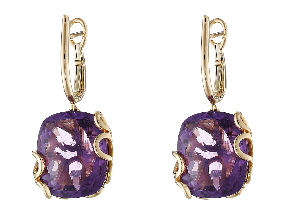 Miseno - Sea Leaf Amethyst Earrings (Yellow Gold) Earring