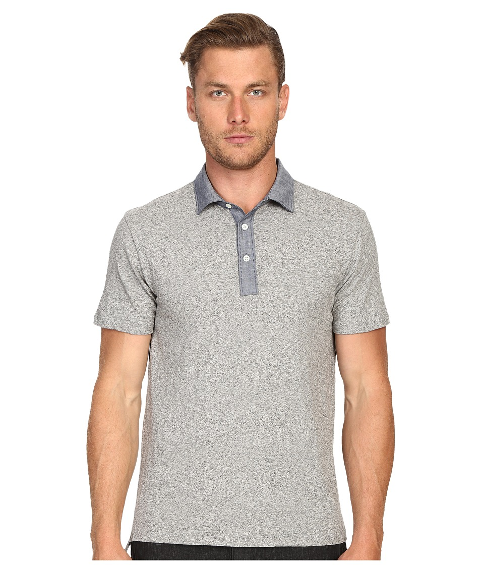 Todd Snyder Chambray Trim Polo Antique Grey Mix Mens Clothing