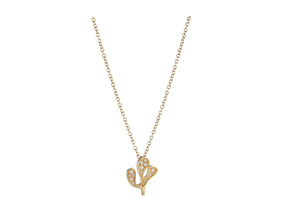 Miseno - Foglia Di Mare Diamond Pendant Necklace (Yellow Gold) Necklace