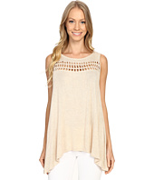 B Collection by Bobeau - Casper Lattice Trim Knit Tank Top