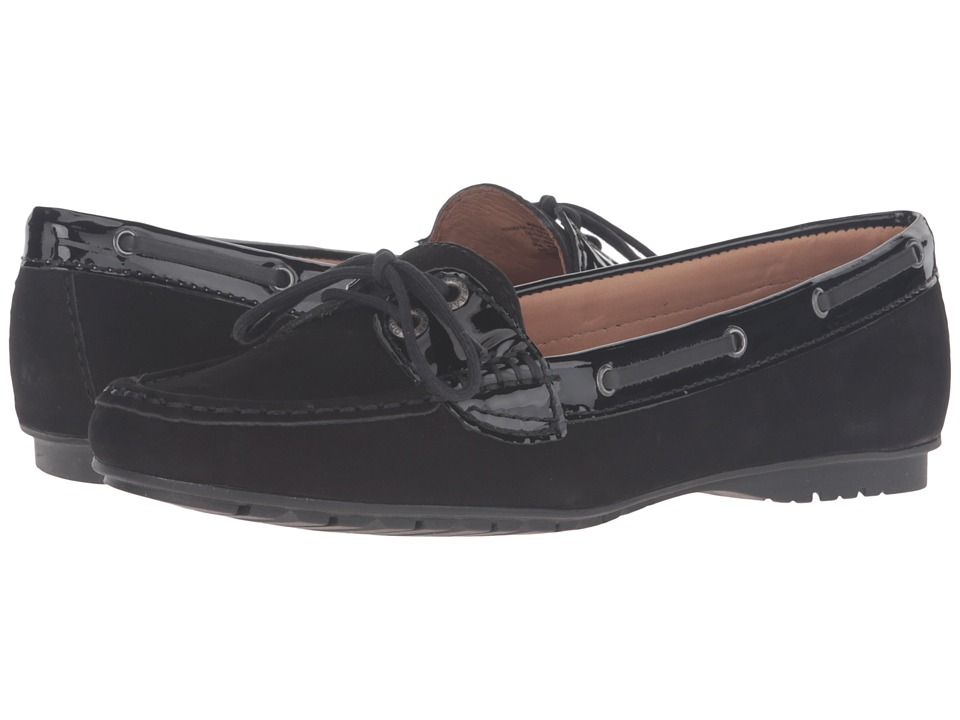 Sebago Meriden Two Eye (Black Nubuck/Patent) Women