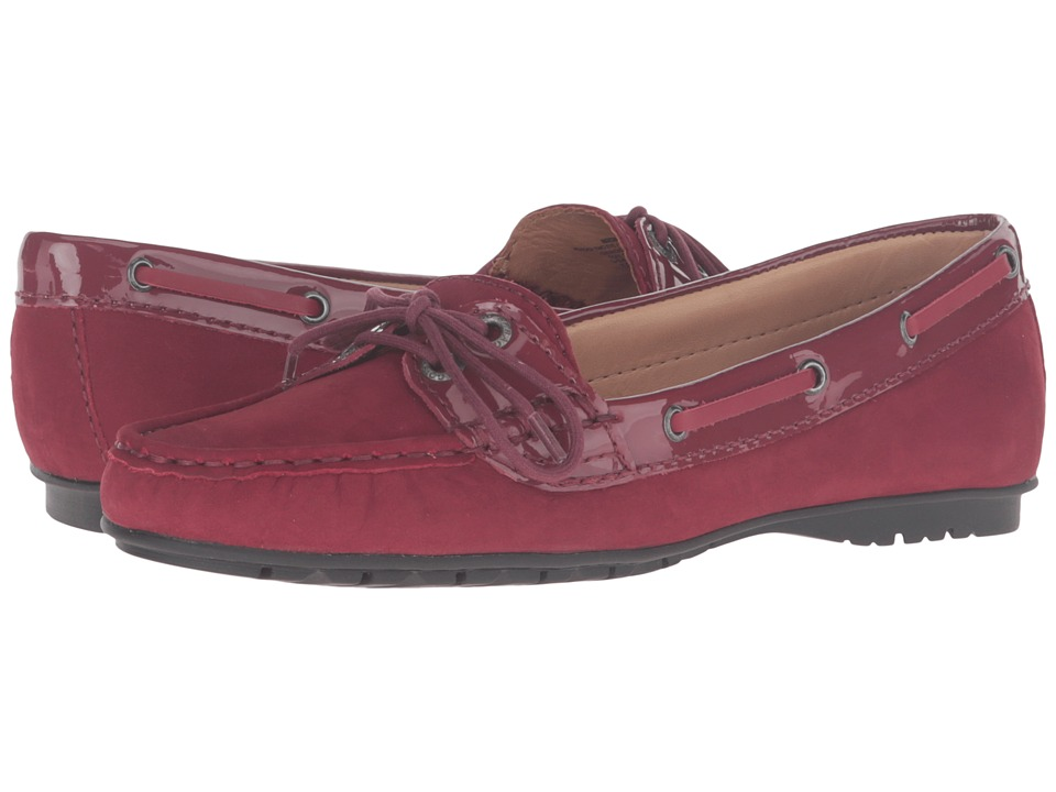 Sebago Meriden Two Eye (Wine Nubuck/Patent) Women