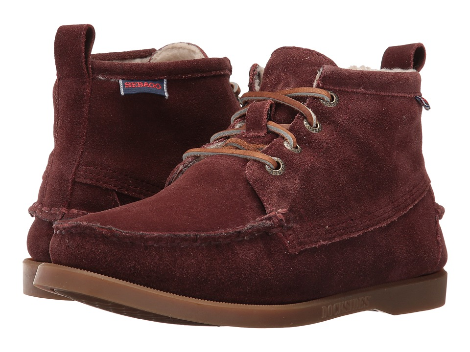 Sebago Beacon Shearling (Burgundy Suede) Women