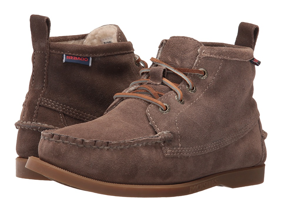 Sebago Beacon Shearling (Dark Taupe Suede) Women