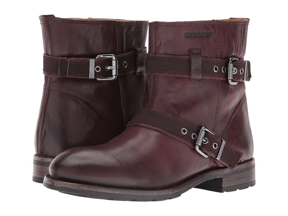 Sebago Laney Mid Boot (Burgundy Leather) Women