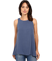 B Collection by Bobeau - Flora Asymmetric Side Slit Woven Tank Top