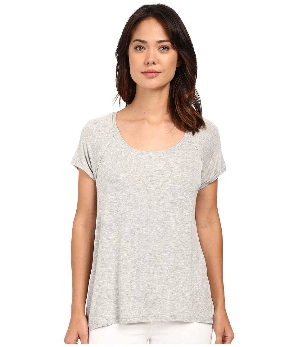 Bobeau Bailey Ragland Knit T Shirt Heather Grey Womens T Shirt
