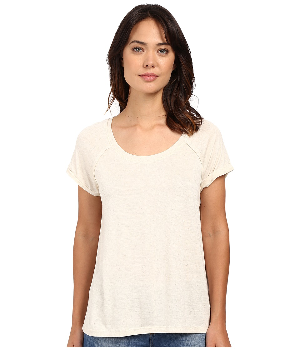 Bobeau Bailey Ragland Knit T Shirt Oatmeal Womens T Shirt