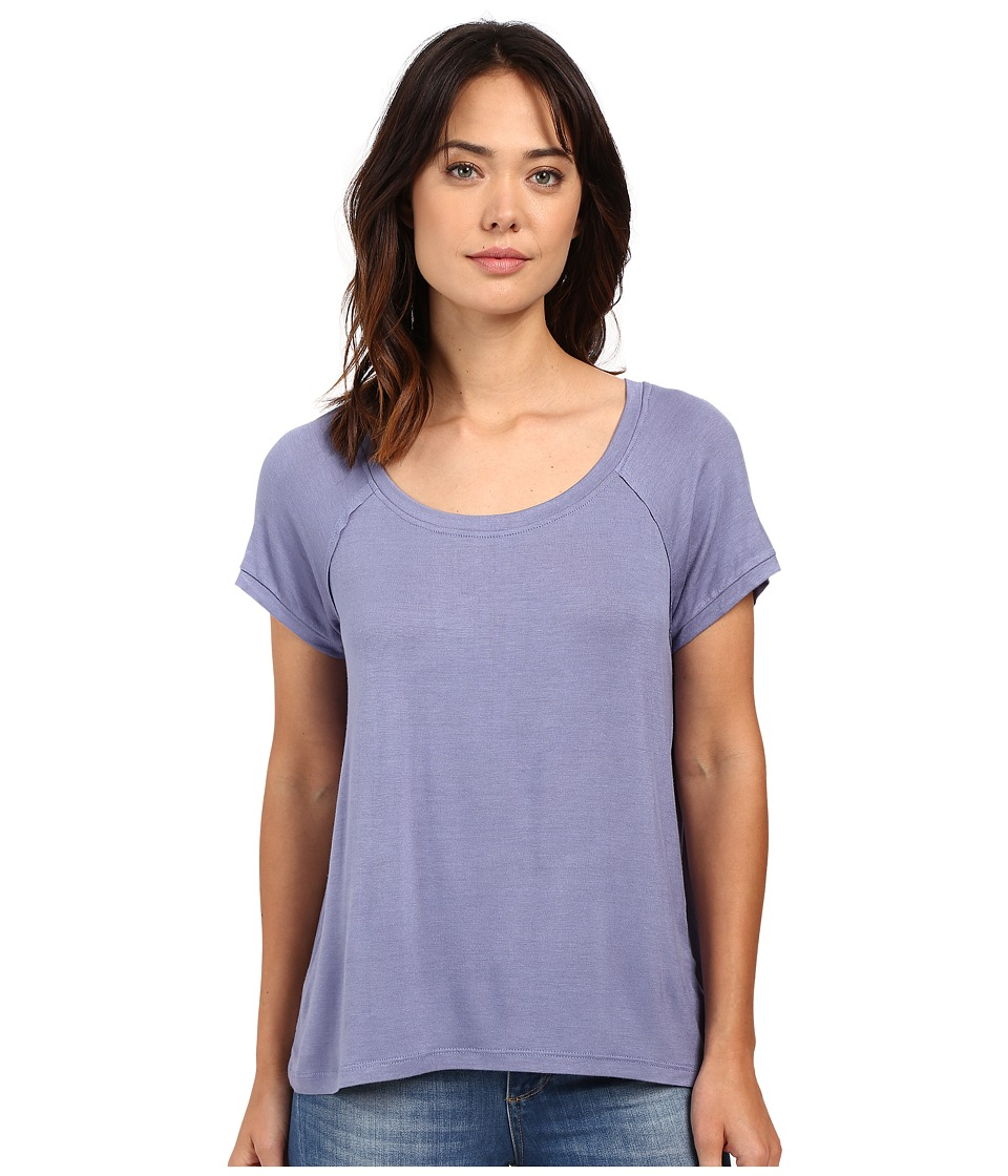 Bobeau Bailey Ragland Knit T Shirt Periwinkle Womens T Shirt