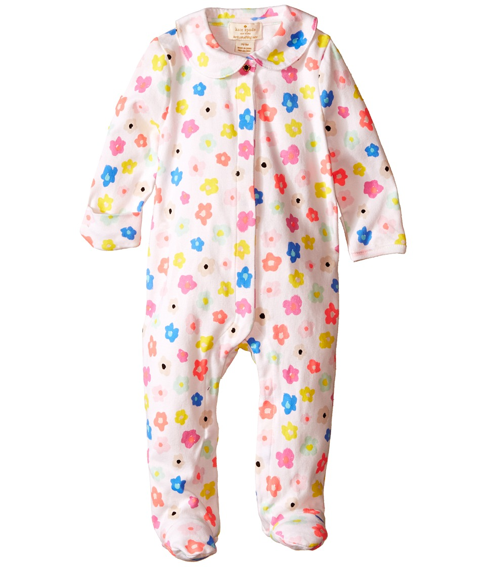 Kate Spade New York Kids Ruffle Footie Infant Faye Floral Girls Jumpsuit Rompers One Piece