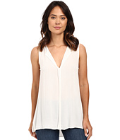 Bobeau - Lily Pleat Back Woven Tank Top