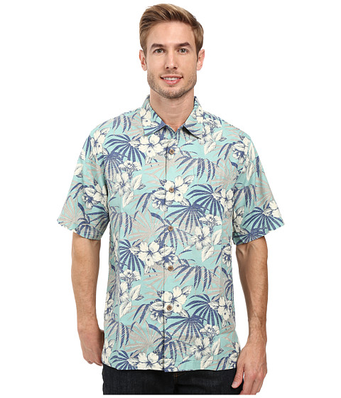 Tommy Bahama Hibiscus De Cuba Shirt - Dusty Jade Green
