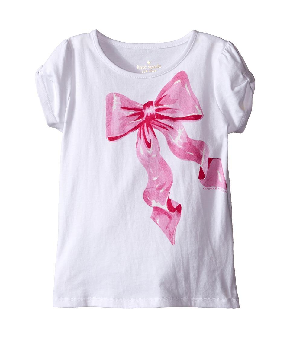 Kate Spade New York Kids Tromp LOeil Bow Tee Toddler/Little Kids Fresh White Girls T Shirt