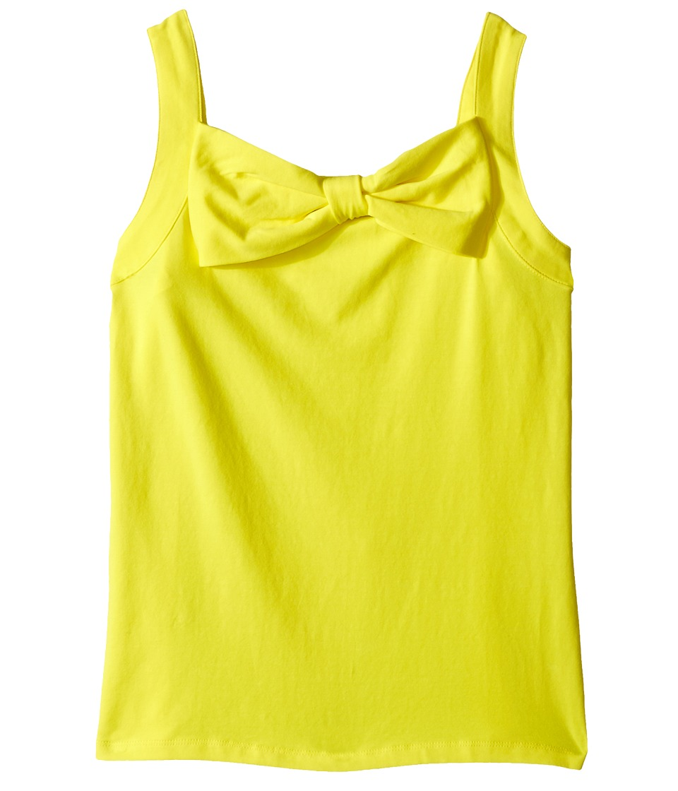 Kate Spade New York Kids Bow Tank Top Big Kids Lemon Yellow Girls Sleeveless