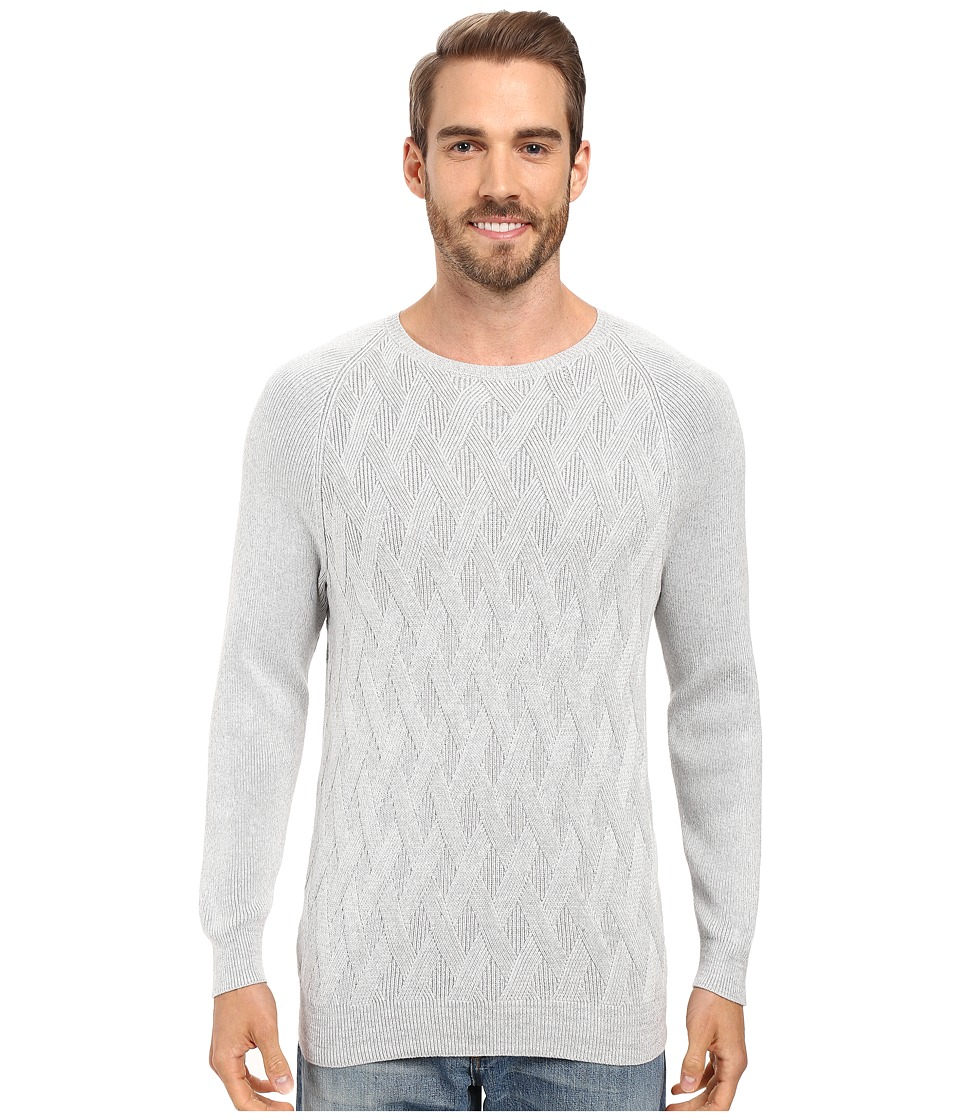 Tommy Bahama - Ocean Crest Crew Long Sleeve Pullover (Silver Grey) Men's Clothing
