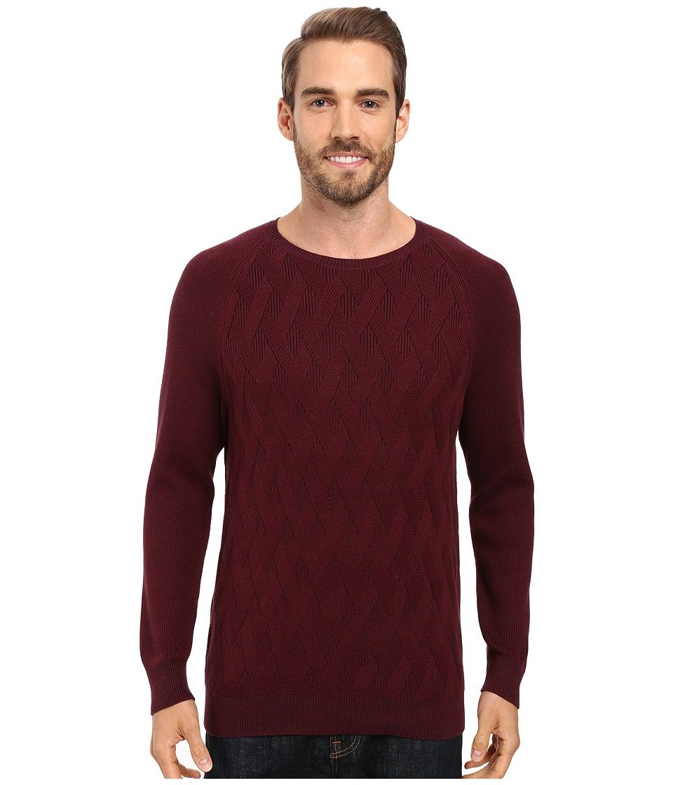Tommy Bahama - Ocean Crest Crew Long Sleeve Pullover (Aged Claret) Men's Clothing