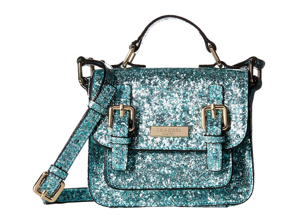 Kate Spade New York Kids Scout Crossbody Mint Glitter Cross Body Handbags
