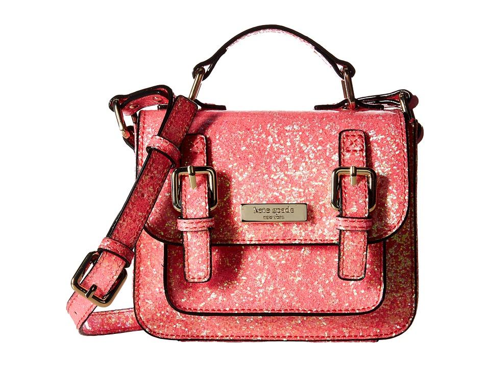 Kate Spade New York Kids Scout Crossbody Pop Coral Glitter Cross Body Handbags