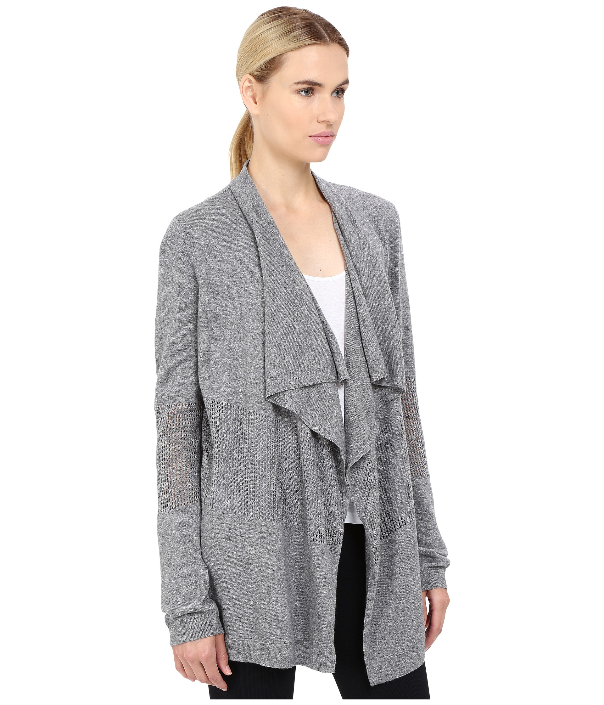 The Kooples Crochet Stitch & Jersey Open Cardigan - Zappos.com Free ...