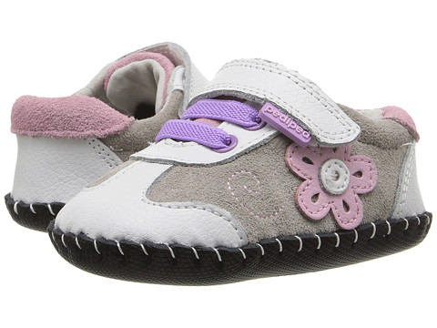 pediped Claudia Originals (Infant) - White/Pink
