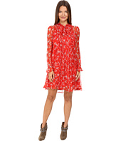 The Kooples - Dotted Line Flowers On Silk Crepon Dress